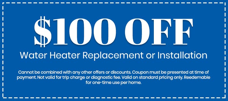 discount on Water Heater Replacement or Installation